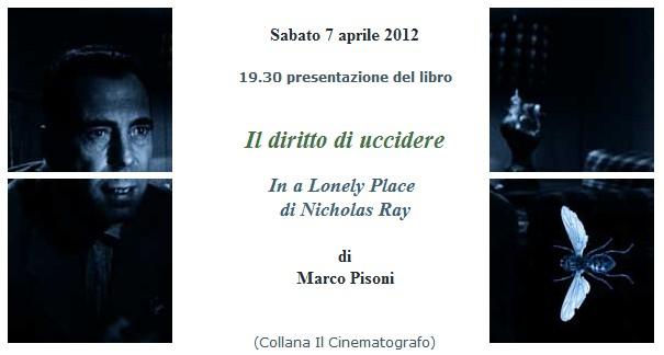 """Roma, 7 aprile 2012, in Camera verde: """"Il diritto di uccidere / In a Lonely Place, di Nicholas Ray"""", di Marco Pisoni"""