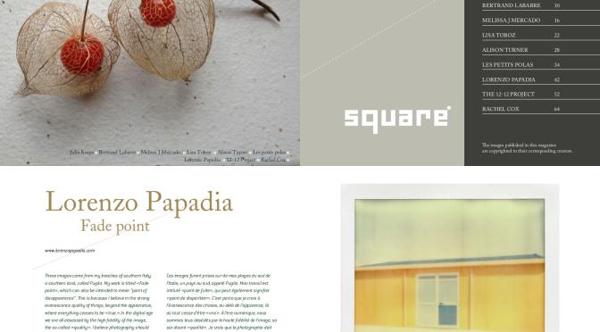 """Lorenzo Papadia, le immagini di """"Fade point"""" su SQUARE magazine."""