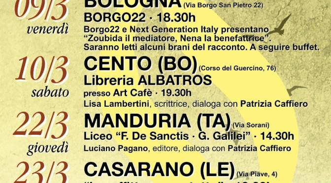 """""""Incredibili vite nascoste nei libri"""", Patrizia Caffiero presentazioni di marzo in Emilia-Romagna e in Puglia."""