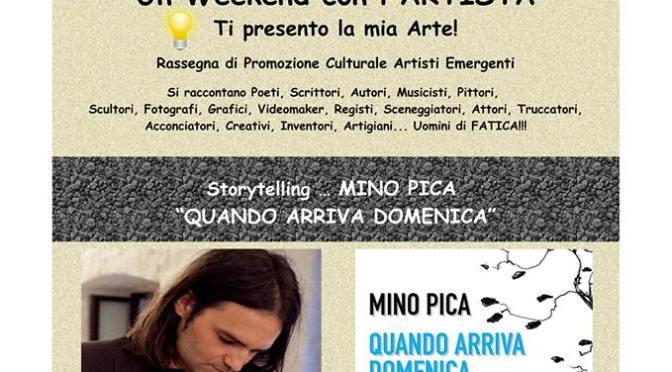 """Sabato 28 aprile 2018 – Oria (Br) – Associazione """"Dear Amico"""" ospita Mino Pica per """"Un weekend con l'artista"""""""