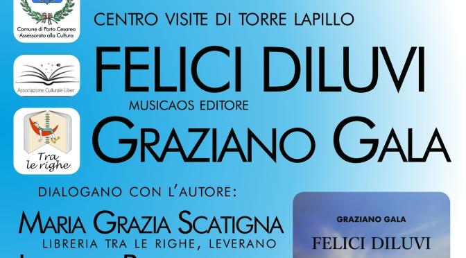 """Lunedì 9 luglio 2018 – Torre Lapillo (Le) – Graziano Gala ospite della rassegna """"Libri d'autore"""" presso il Centro Visite di Torre Lapillo"""