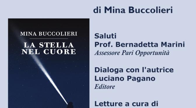 """Domenica 19 maggio 2019 – Nardò (Le) – Mina Buccolieri presenta """"La stella nel cuore"""" presso il Chiostro dei Carmelitani"""